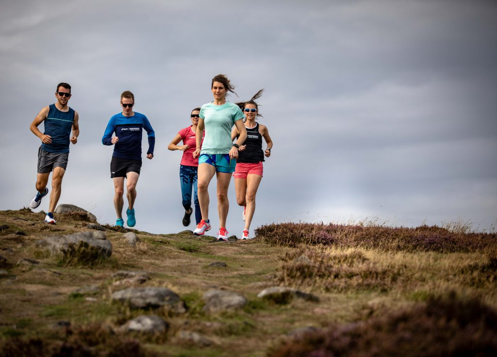 friends running as a hobby in france