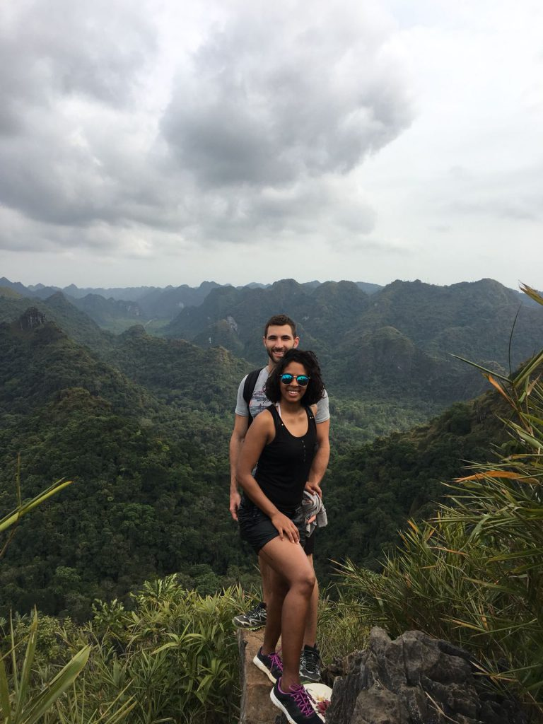 laura and her husband travelling and exploring