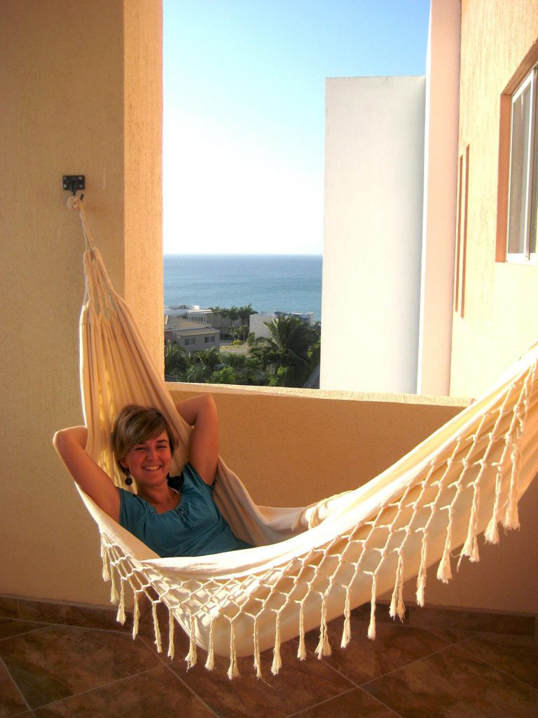judith relaxing on her holiday