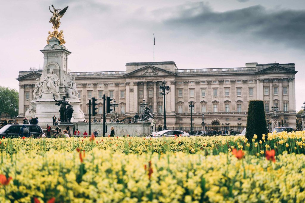 Buckingham Palace London the home of the queen and posh traditions