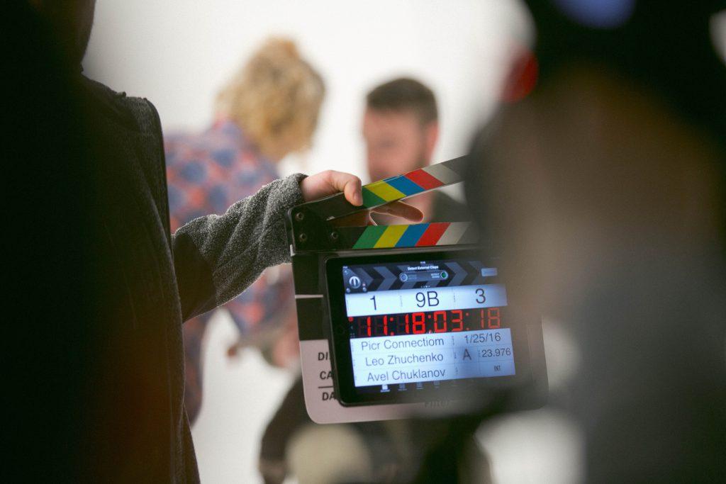 clapper board ready to film
