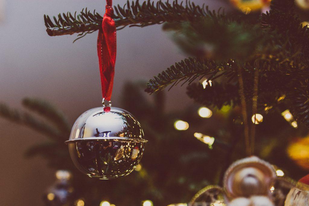 jingle bells on a christmas tree