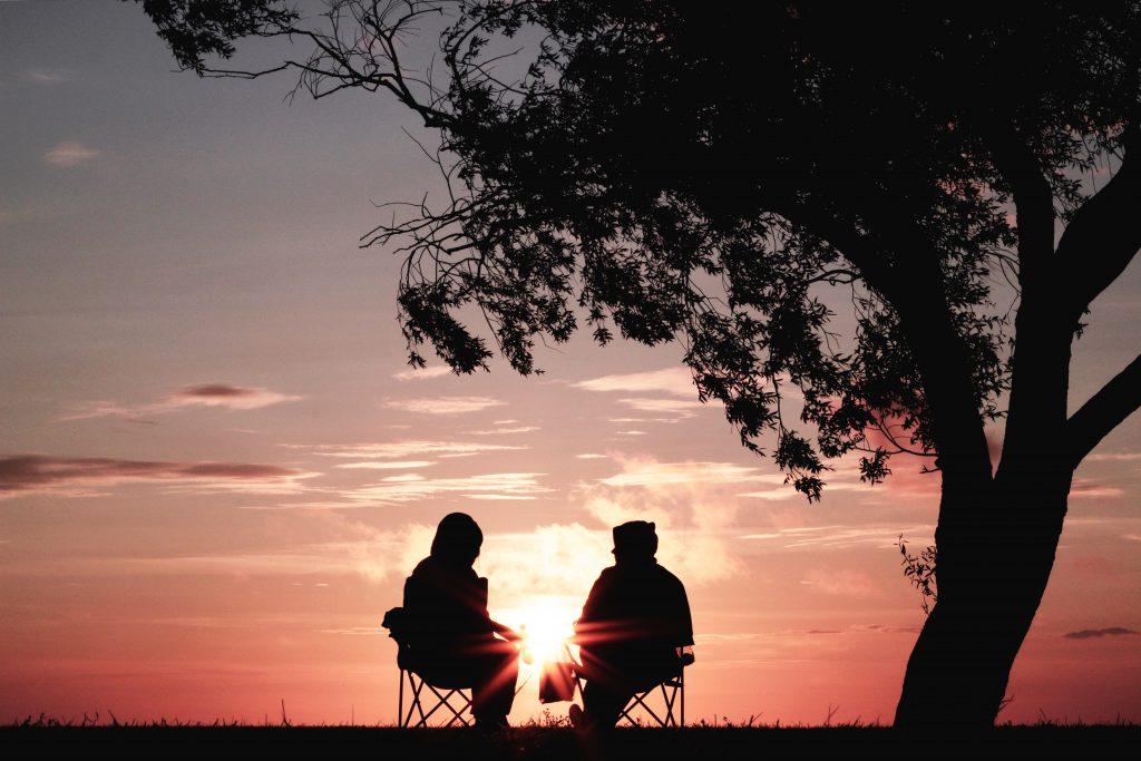Retired British couple enjoying a holiday