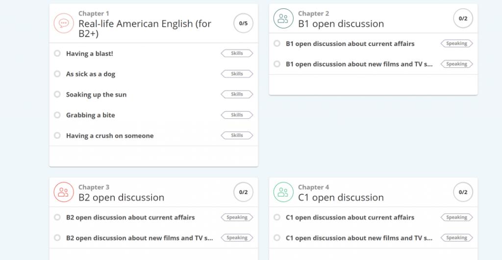 screenshot of lingoda add-on lessons