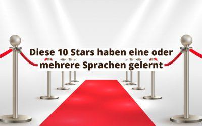 Stars, die eine Fremdsprache sprechen
