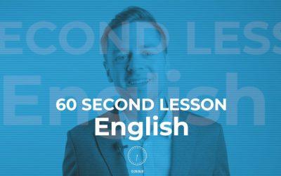 Минутный урок английского: моя биография