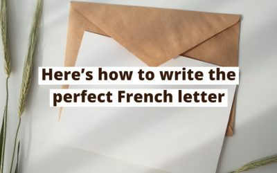 How to write a formal letter in French.
