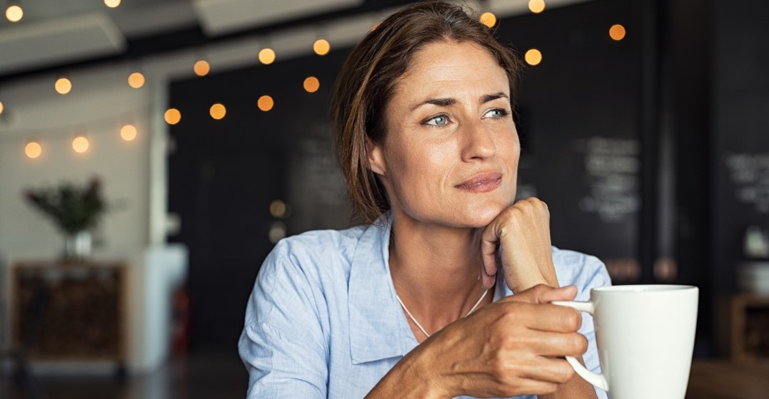 woman thinking about french prepositions