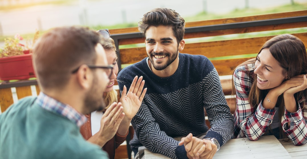 friends practising talking Spanish imperative using Affirmative versus negative