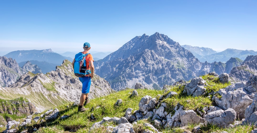 man looking over one of the The top places to go hiking in Germany