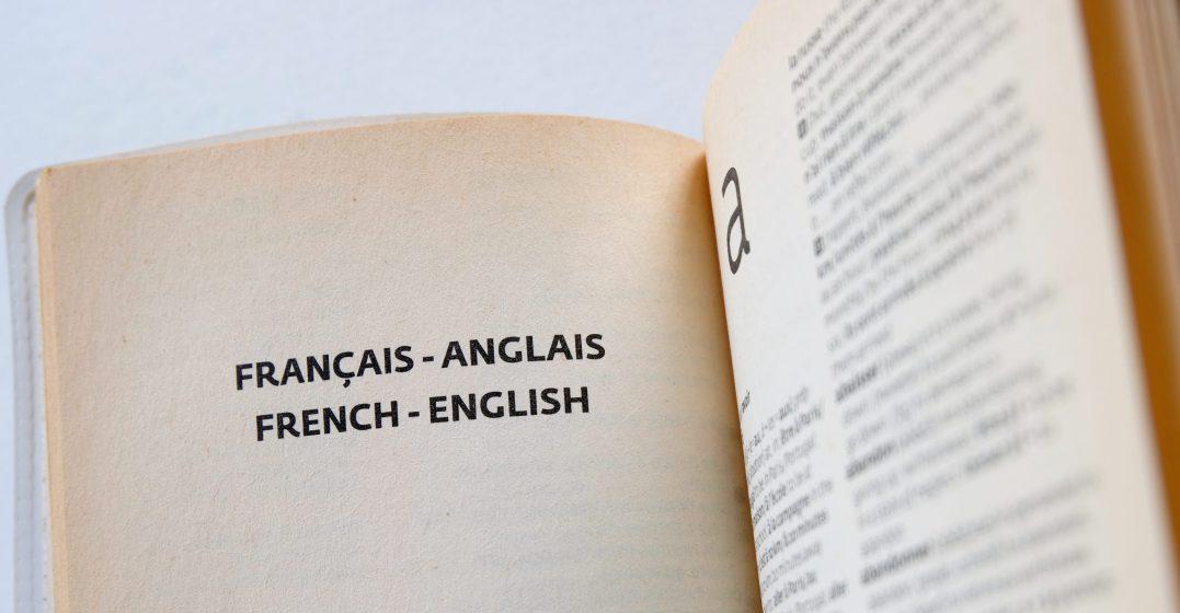 Une page ouverte dans un dictionnaire